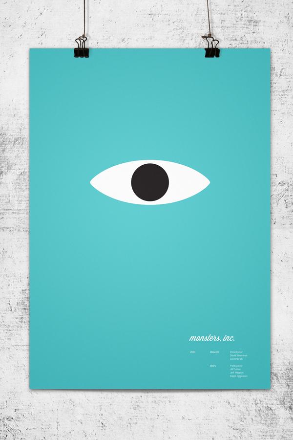Minimalistische posters van pixar films for Minimalist werden