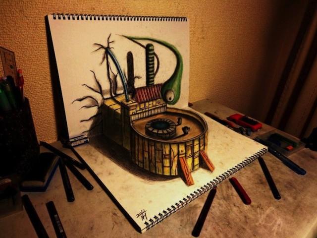 Bizar realistische 3d tekeningen for 3d tekening maken keuken