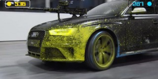 Audi paintball