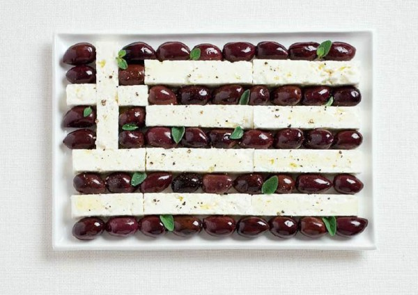 Greece-Food-Flag