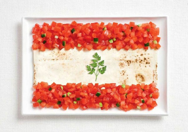 Lebanon-food-flag