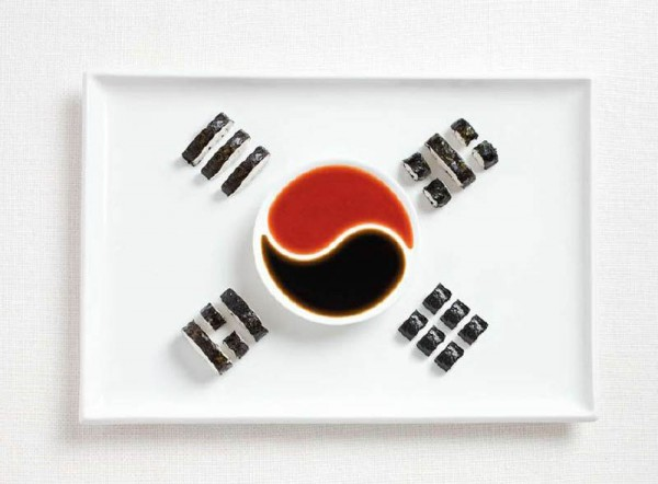 South-Korea-Food-Flag