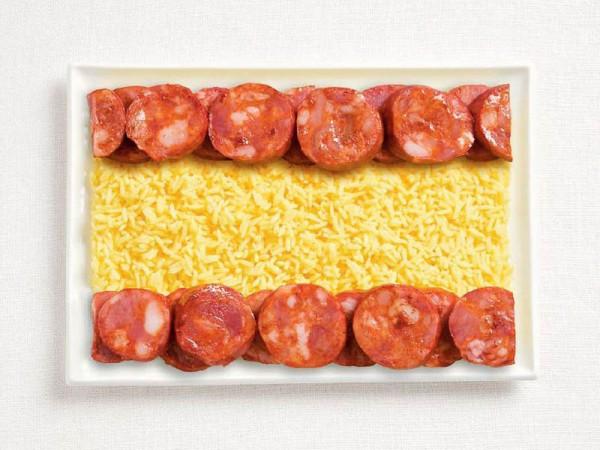 Spain-Food-Flag